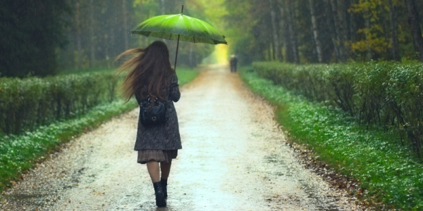 móda v deštivém počasí