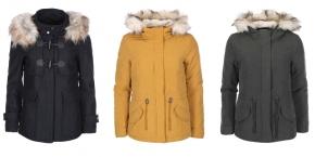Dámské zimní bundy s kožíškem - nová kolekce, výprodej